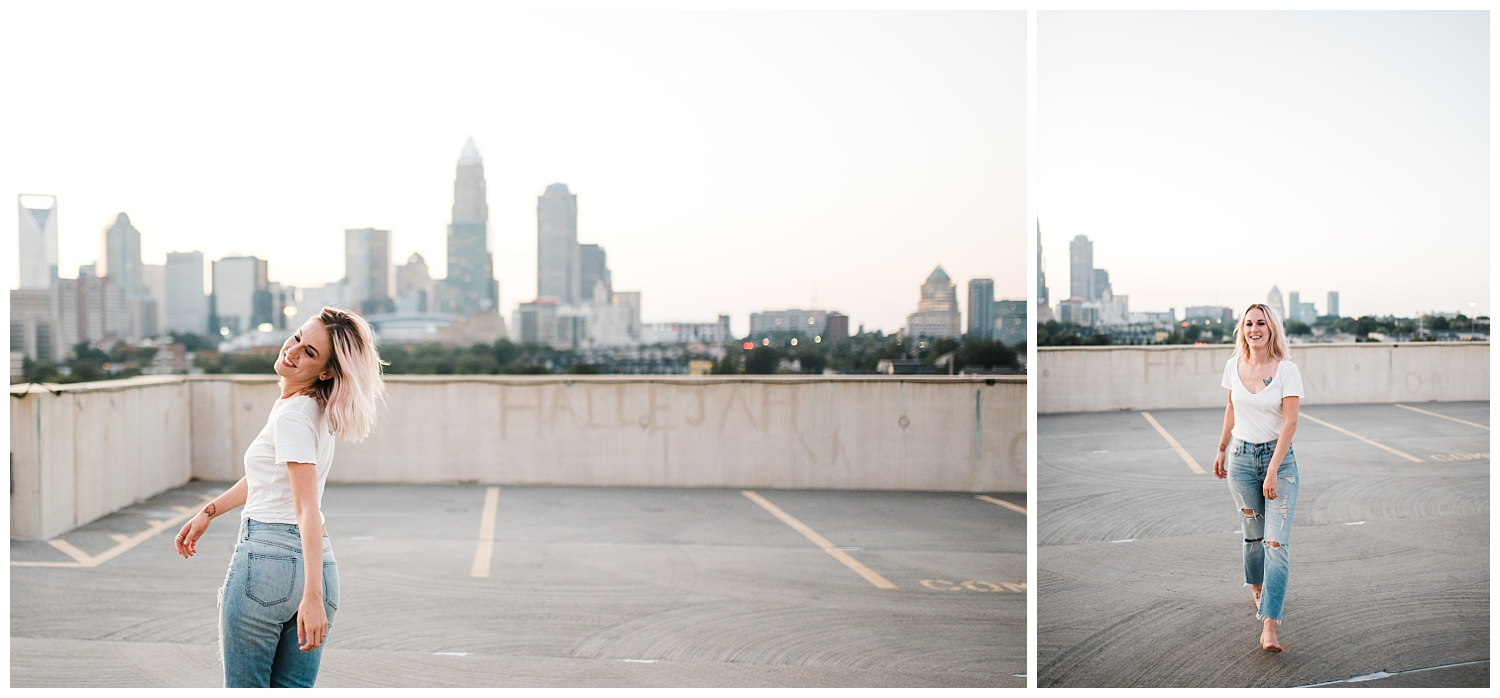 Easterday Creative | Adventurous wedding photographer and storyteller | Queen City Sunset Session with hullosam | Charlotte, North Carolina