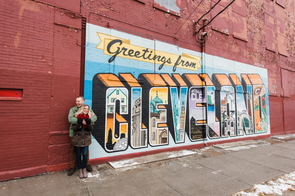 Easterday Creative, Adventurous Wedding Photographer and Storyteller, Cleveland Winter Wonderland Engagement