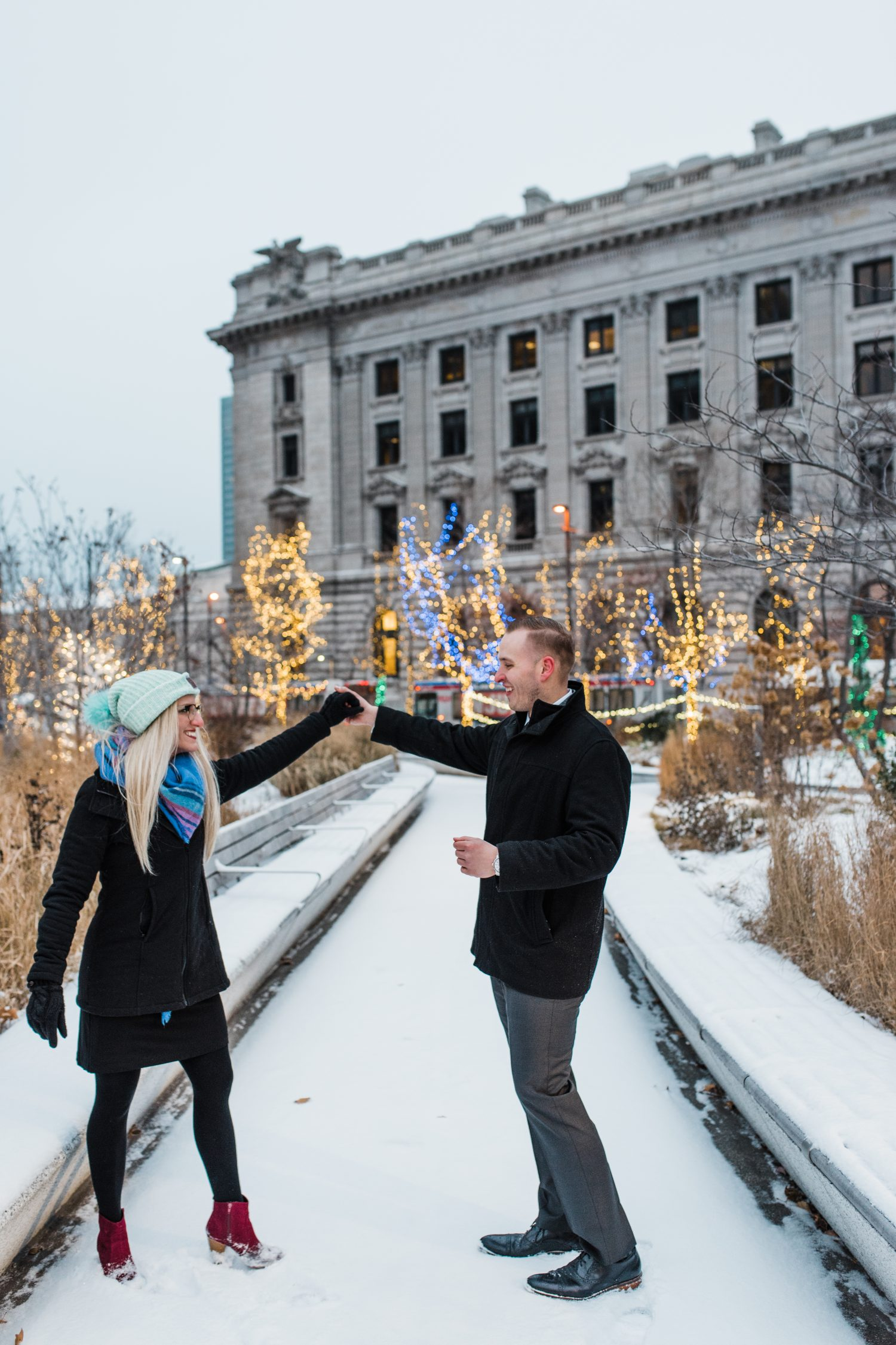 Easterday Creative, Adventurous Wedding Photographer and Storyteller, Cleveland Winter Wonderland Engagement Session
