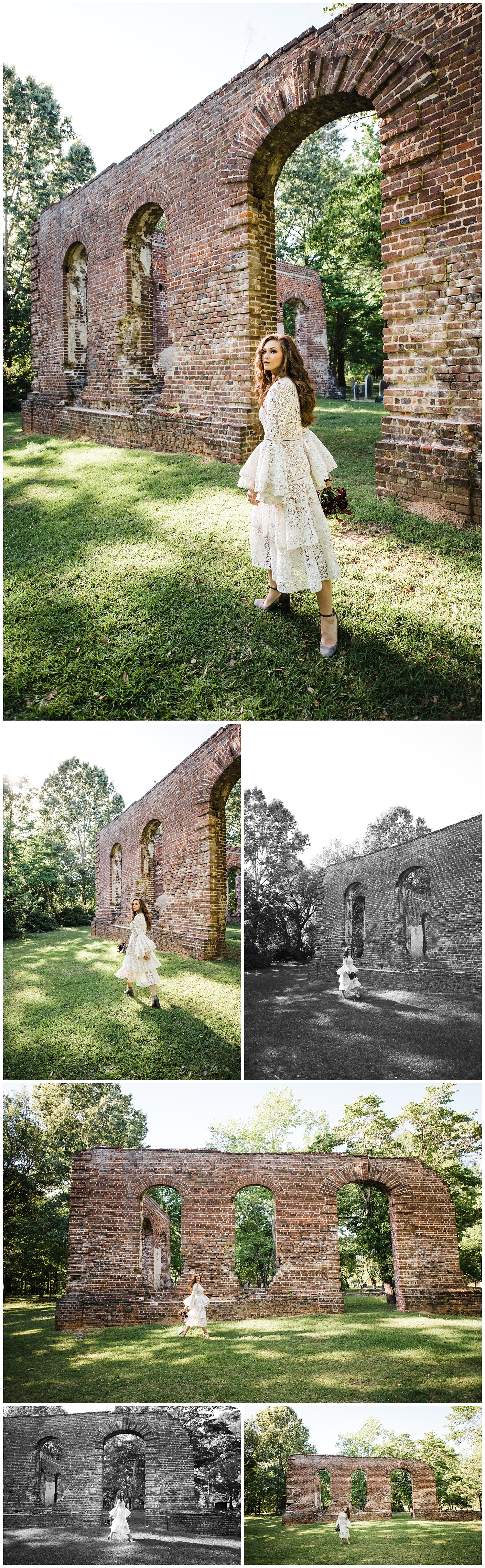 Easterday Creative | Adventurous wedding photographer and storyteller | Eclectic Biggins Church Ruins Styled Shoot | Charleston, SC