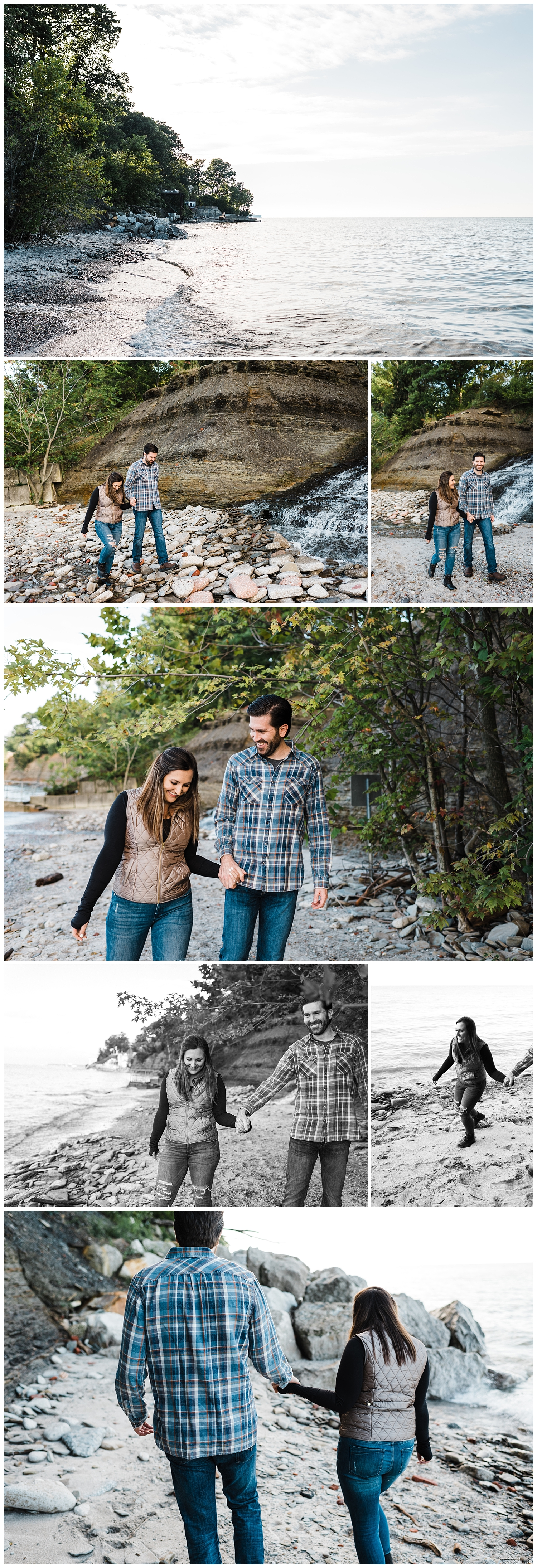 Easterday Creative | Adventurous wedding photographer and storyteller | Melissa + David | Lake Erie Beach Engagement | Cleveland, OH