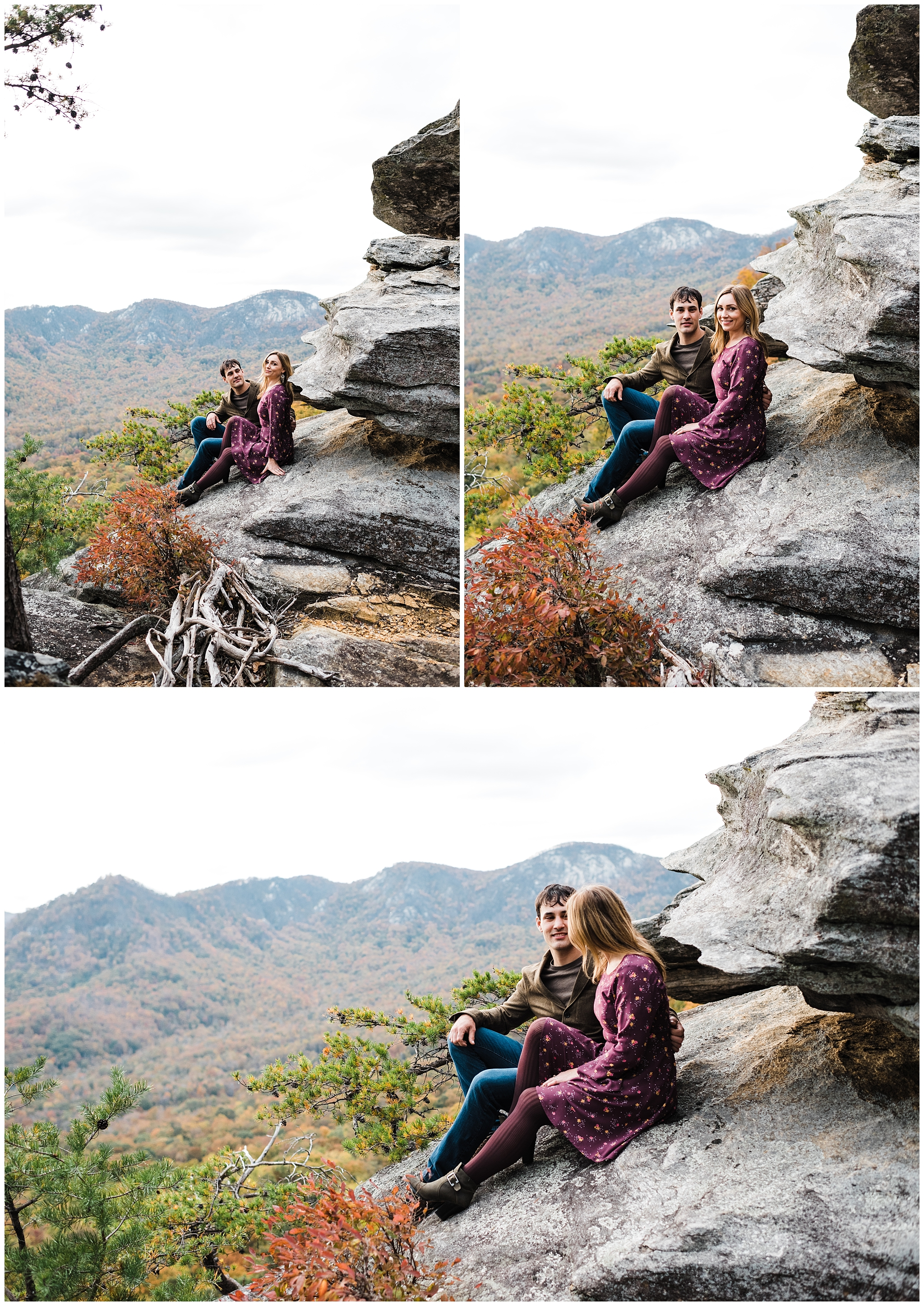 Easterday Creative | Adventurous wedding photographer and storyteller | Valentina + Anthony | Rumbling Bald Adventure Photo Session | Chimney Rock, NC