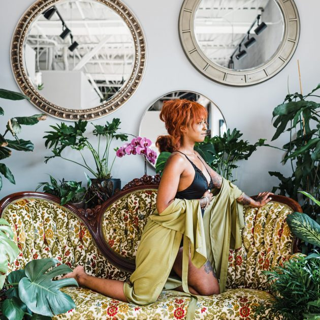 Plant Baddie Boudoir with Easterday Creative & Plant Therapy CLT | Editorial photographer and visual storyteller for rad humans and unique brands | Charlotte, NC